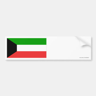 Bandera de Kuwait Pegatina De Parachoque