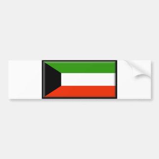 Bandera de Kuwait Etiqueta De Parachoque