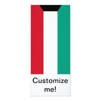 Bandera de Kuwait Invitación 10,1 X 23,5 Cm