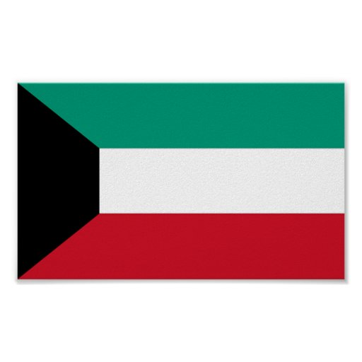 Bandera de Kuwait Poster