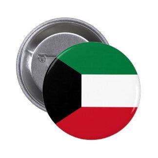 Bandera de Kuwait Pin Redondo 5 Cm