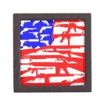 Bandera de la 2da enmienda de los armas cajas de regalo de calidad