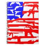 Bandera de la 2da enmienda de los armas libretas espirales