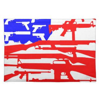 Bandera de la 2da enmienda de los armas manteles individuales