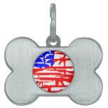 Bandera de la 2da enmienda de los armas placa de mascota