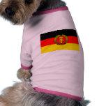 Bandera de la Alemania Oriental Camisa De Mascota