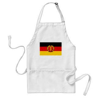 Bandera de la Alemania Oriental Delantal