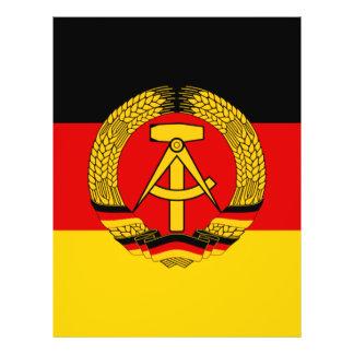Bandera de la Alemania Oriental Tarjeta Publicitaria