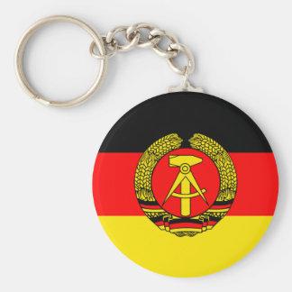 Bandera de la Alemania Oriental Llavero Redondo Tipo Pin