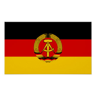 Bandera de la Alemania Oriental Poster
