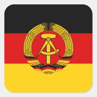Bandera de la Alemania Oriental Pegatina Cuadrada