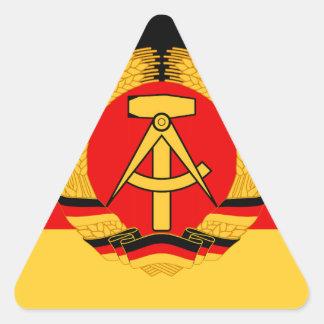 Bandera de la Alemania Oriental Pegatina Triangular