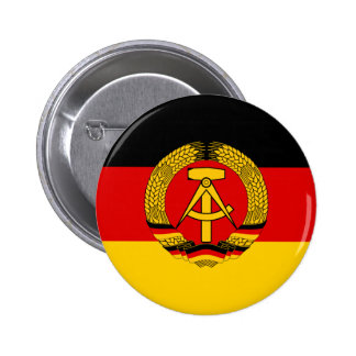 Bandera de la Alemania Oriental Pin Redondo 5 Cm