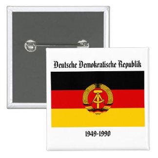 Bandera de la Alemania Oriental Pin Cuadrada 5 Cm