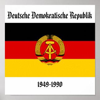 Bandera de la Alemania Oriental Póster