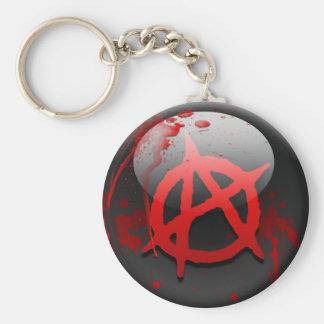 Bandera de la anarquía llavero redondo tipo pin