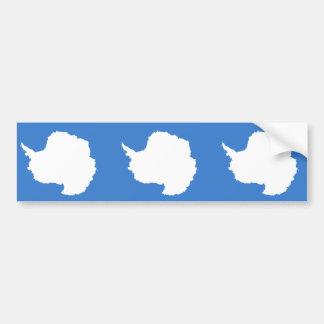 Bandera de la Antártida Etiqueta De Parachoque