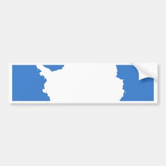 Bandera de la Antártida Pegatina De Parachoque