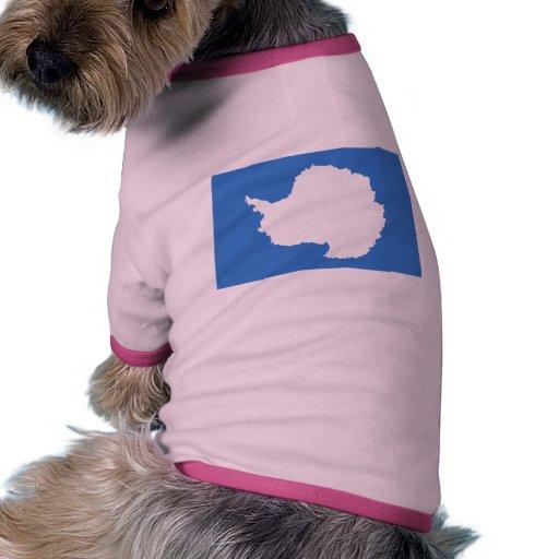 Bandera de la Antártida Camisa De Perrito