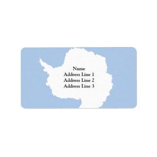 Bandera de la Antártida Etiquetas De Dirección