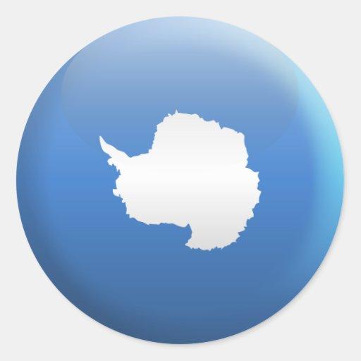 Bandera de la Antártida Pegatina Redonda