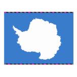 Bandera de la Antártida Postales