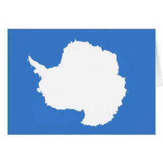 Bandera de la Antártida Tarjeta