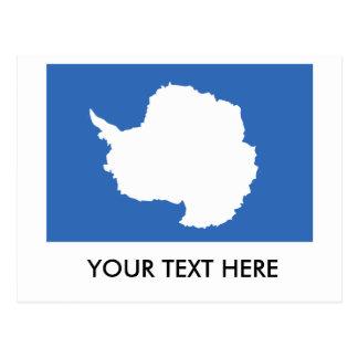 Bandera de la Antártida Tarjeta Postal