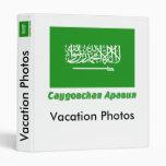 Bandera de la Arabia Saudita con nombre en ruso Carpeta 2,5 Cm