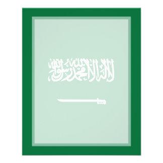 """Bandera de la Arabia Saudita Folleto 4.5"""" X 5.6"""""""