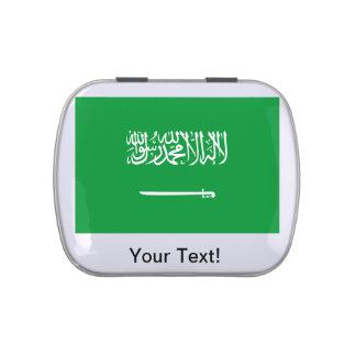 Bandera de la Arabia Saudita Frascos De Caramelos