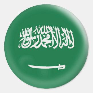 bandera de la Arabia Saudita la Arabia Saudita de Pegatina Redonda