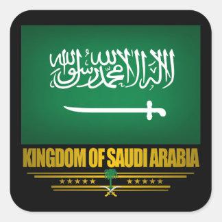 Bandera de la Arabia Saudita Calcomanías Cuadradas Personalizadas