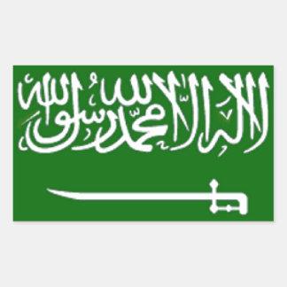 Bandera de la Arabia Saudita Rectangular Pegatinas