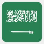 Bandera de la Arabia Saudita Calcomania Cuadradas Personalizadas