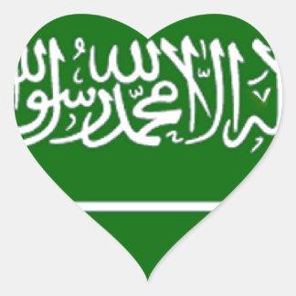 Bandera de la Arabia Saudita Pegatina En Forma De Corazón