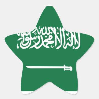 Bandera de la Arabia Saudita Pegatina En Forma De Estrella