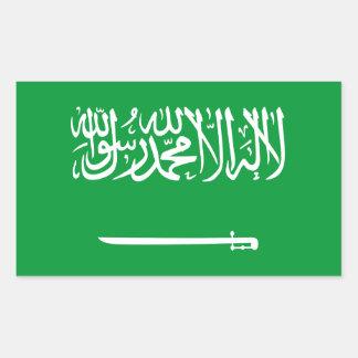 Bandera de la Arabia Saudita Pegatina Rectangular
