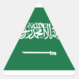 Bandera de la Arabia Saudita Pegatina Triangular
