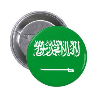 Bandera de la Arabia Saudita Pin Redondo De 2 Pulgadas