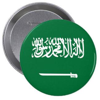 Bandera de la Arabia Saudita Pin Redondo De 4 Pulgadas