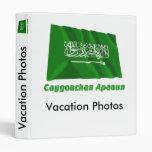 Bandera de la Arabia Saudita que agita con nombre Carpeta 2,5 Cm