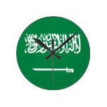 Bandera de la Arabia Saudita Reloj De Pared