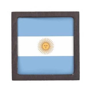 Bandera de la Argentina Cajas De Recuerdo De Calidad