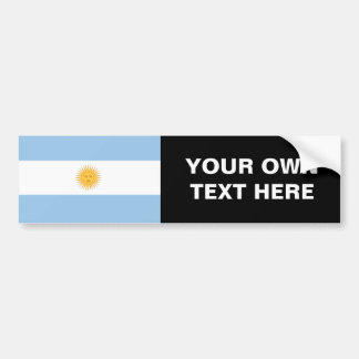 Bandera de la Argentina Etiqueta De Parachoque