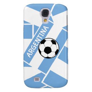 Bandera de la Argentina del fútbol del fútbol Funda Para Galaxy S4