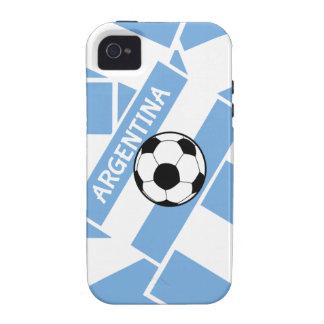 Bandera de la Argentina del fútbol del fútbol iPhone 4/4S Funda