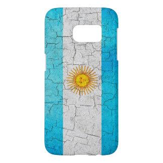 Bandera de la Argentina del Grunge Funda Samsung Galaxy S7