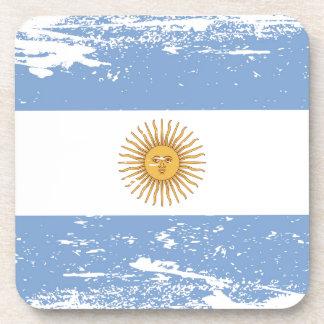 Bandera de la Argentina del Grunge Posavasos De Bebidas
