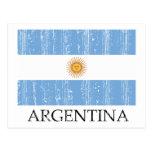 Bandera de la Argentina del vintage Tarjetas Postales